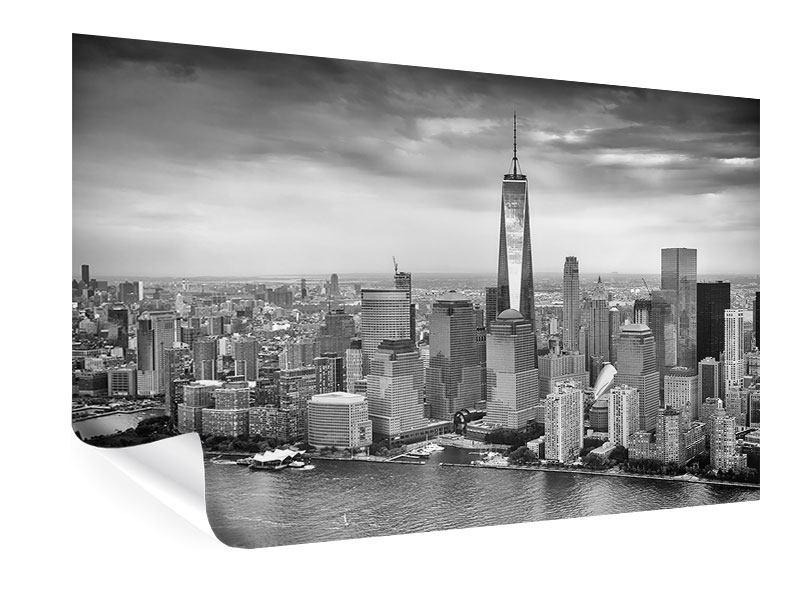 Poster Skyline Schwarzweissfotografie New York