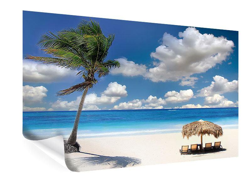 Poster Strand an der blauen Lagune