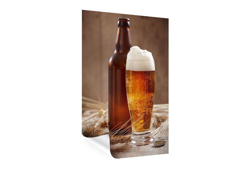 Poster Bier mit Schaum