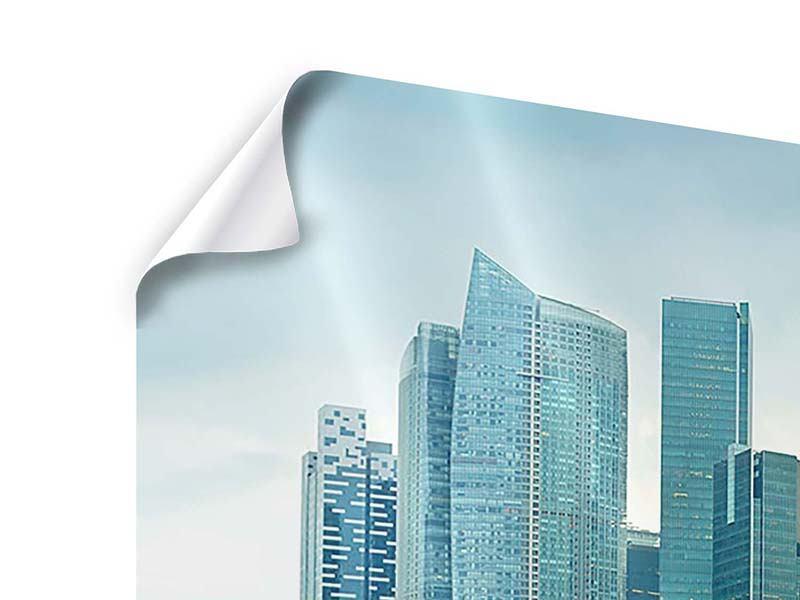 Poster Skyline Sonnenaufgang in Singapur