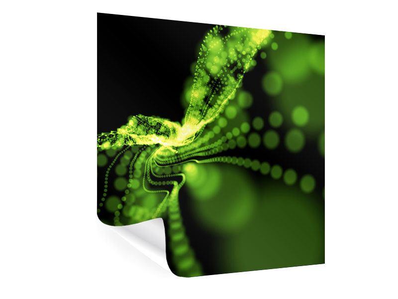Poster Grünes Lichterspiel