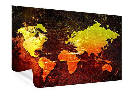 Poster Retro-Weltkarte