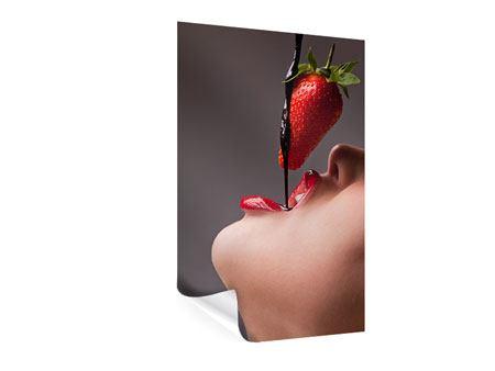 Poster Erdbeer-Kuss