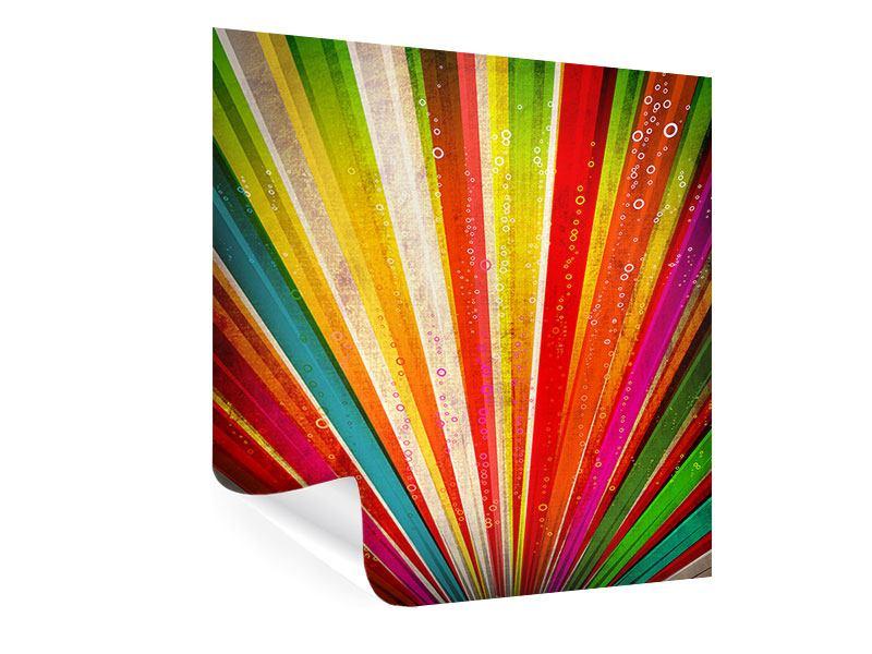 Poster Abstrakte Farbstrahlen