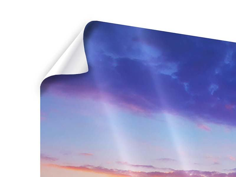 Poster Leuchtender Sonnenuntergang