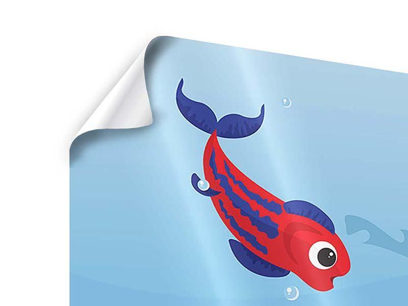 Poster Fische im Wasser