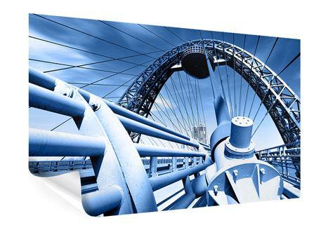 Poster Avantgardistische Hängebrücke