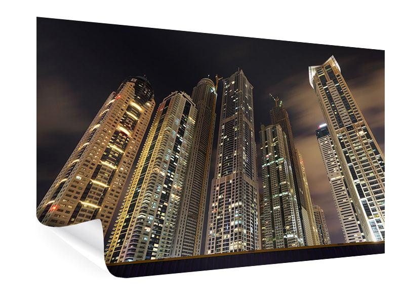 Poster Wolkenkratzer Dubai Marina