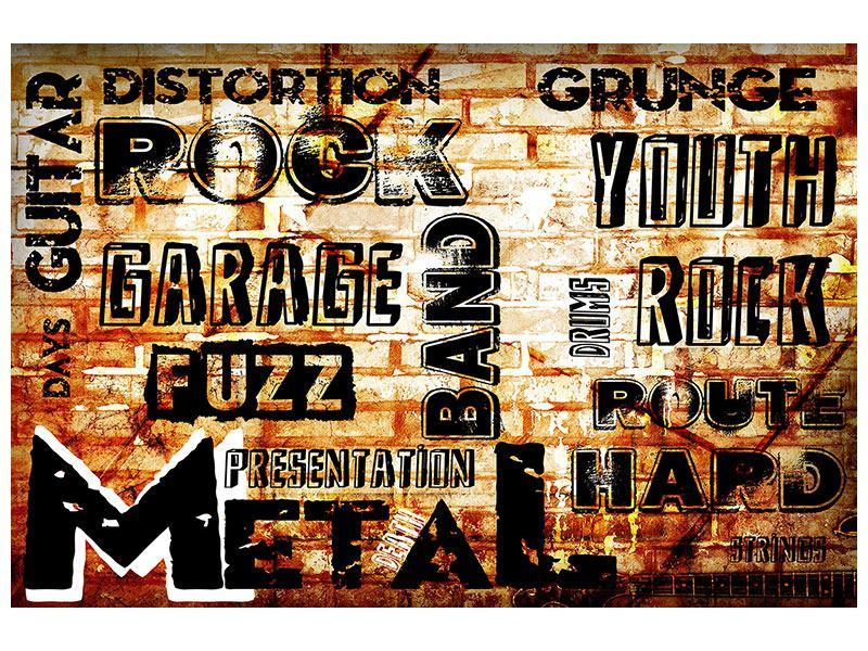 Poster Rock im Grungestil