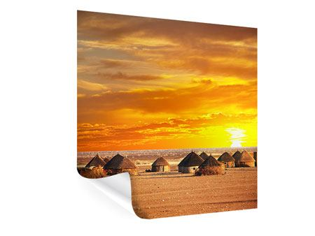 Poster Afrikanisches Dorf