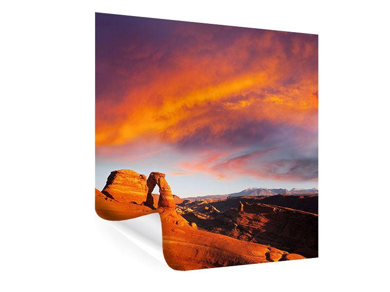 Poster Sonnenuntergang im Canon