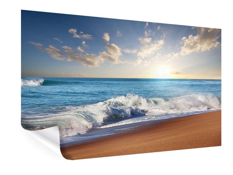 Poster Die Wellen des Meeres