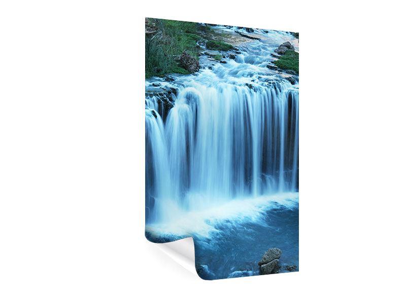 Poster Am Wasserfall