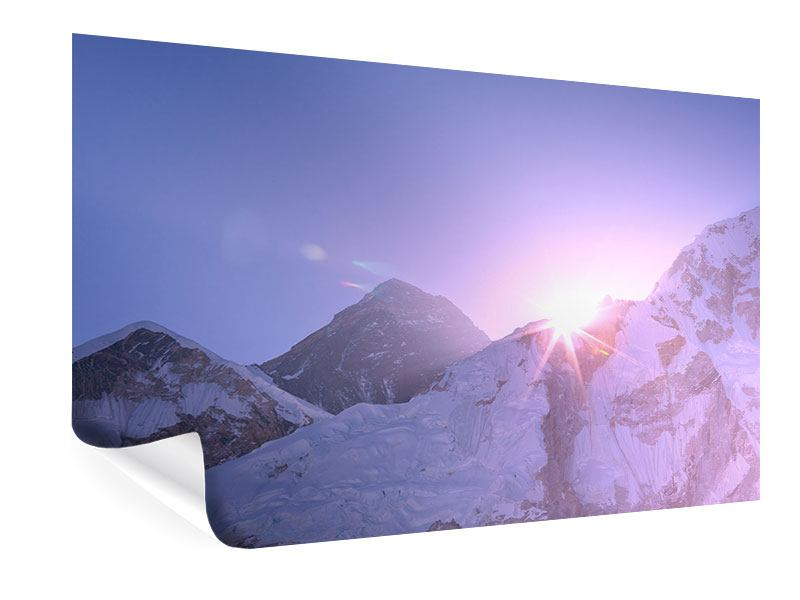 Poster Sonnenaufgang beim Mount Everest