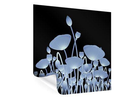 Poster Futurische Blumen