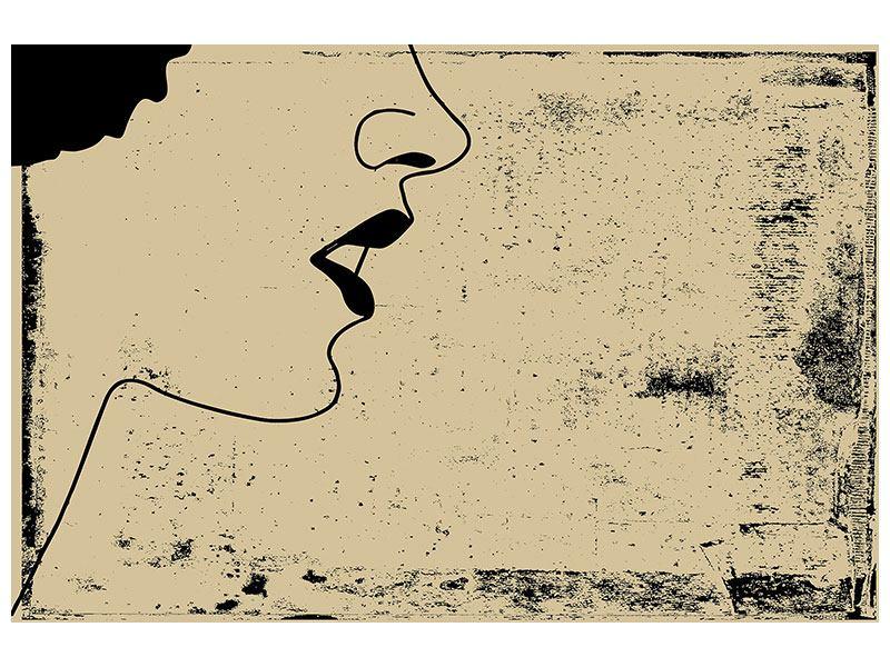 Poster Frauenportrait im Grungestil