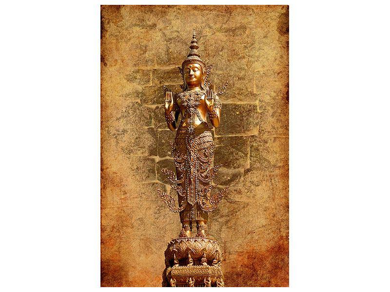 Poster Goldene Buddha-Statue