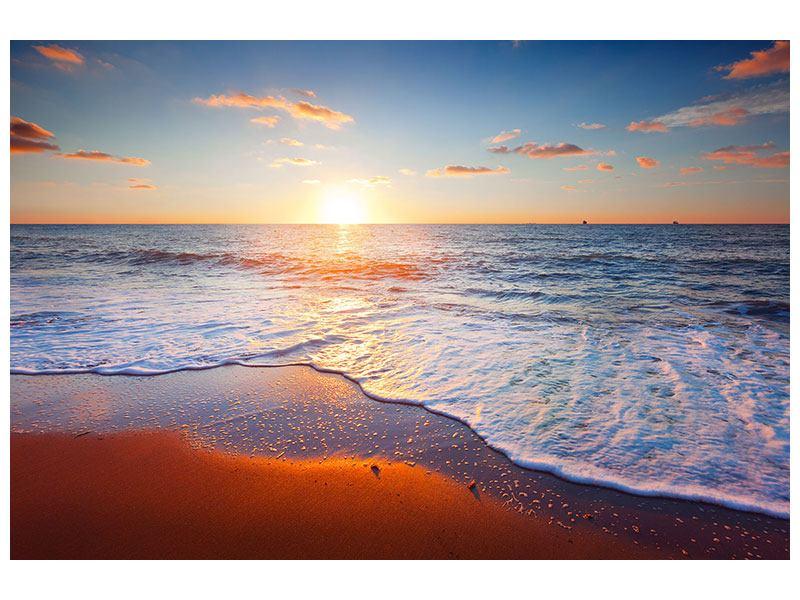 Poster Sonnenuntergang am Horizont