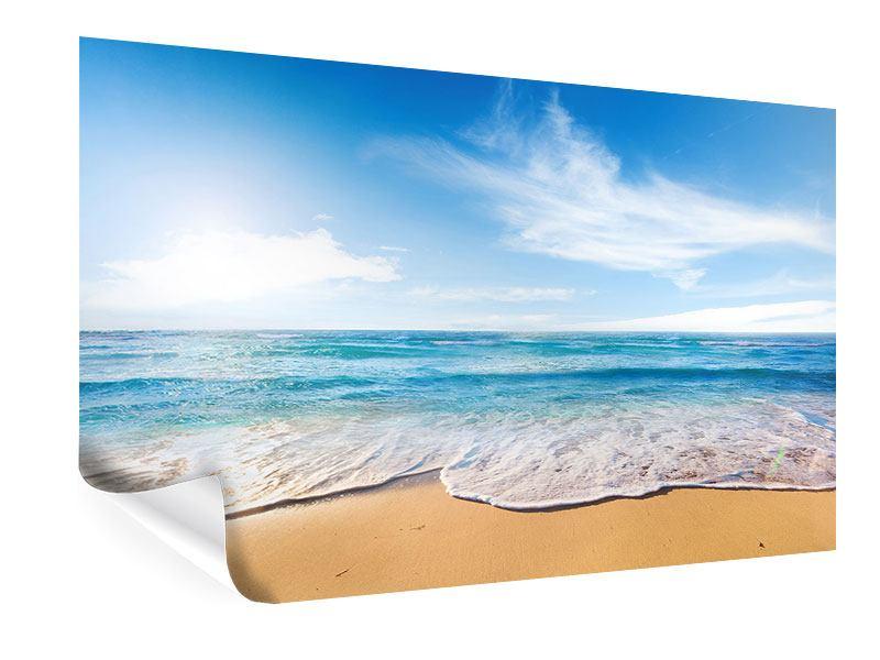 Poster Spuren im Sand