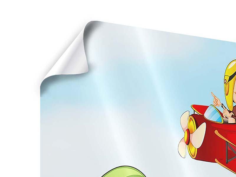 Poster Fliegender Affe