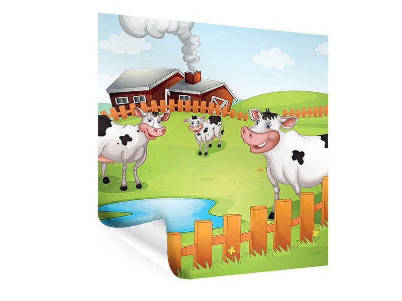 Poster Die lustigen Kühe