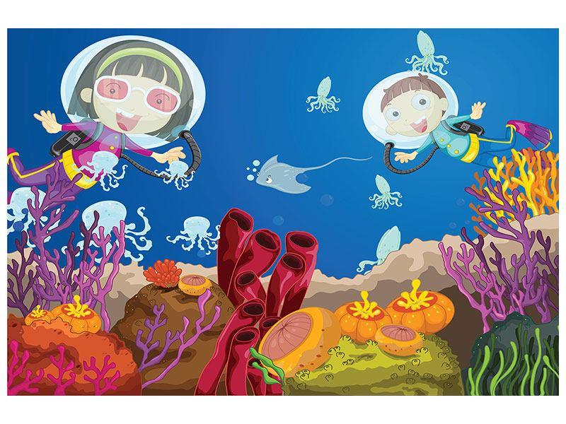 Poster Fröhliche Fische