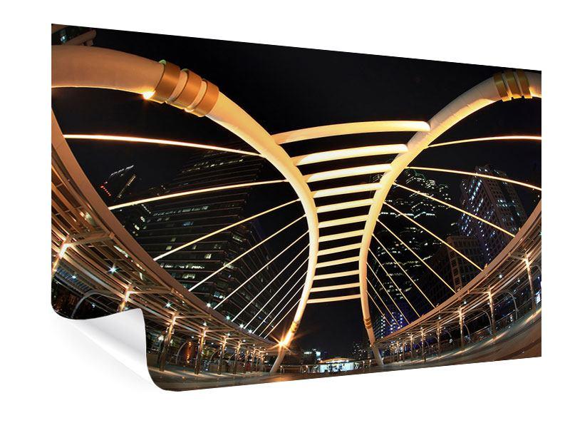 Poster Avantgardistische Brücke