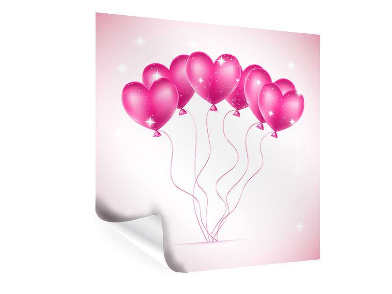 Poster Herzballons