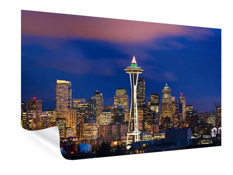 Poster Skyline Seattle