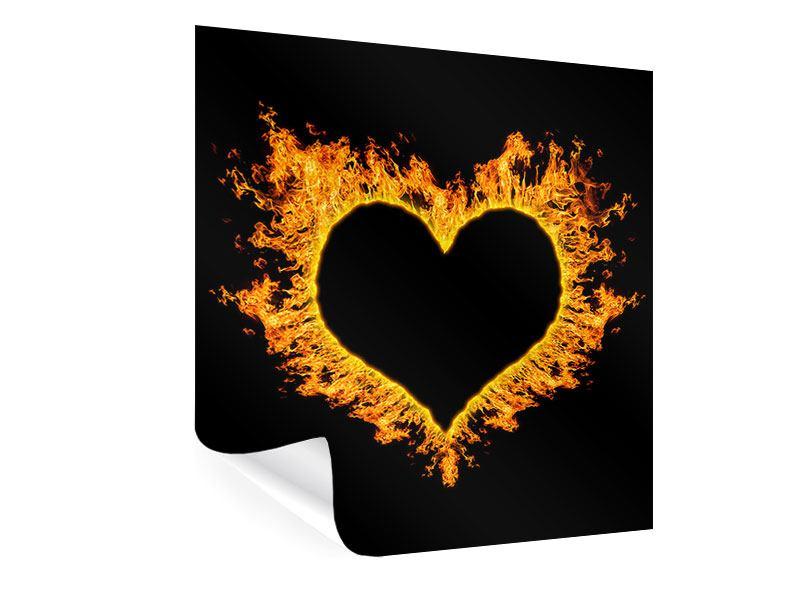 Poster Herzflamme
