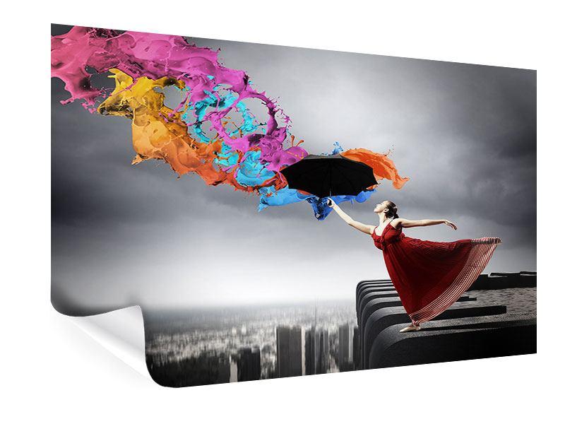 Poster Tanz auf dem Wolkenkratzer