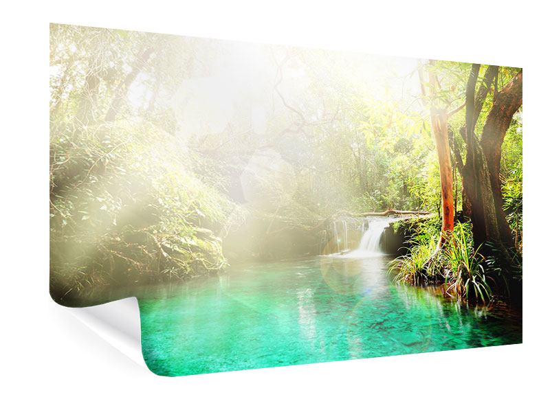 Poster Die grüne Lagune