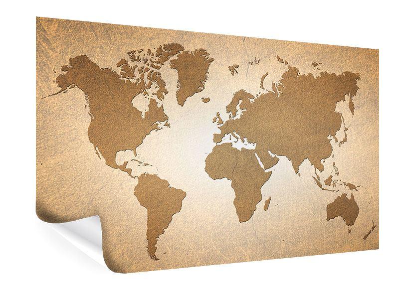 Poster Karte der Welt in Vintage