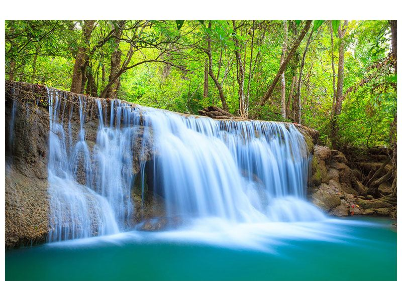 Poster Wasserfall Si Nakharin
