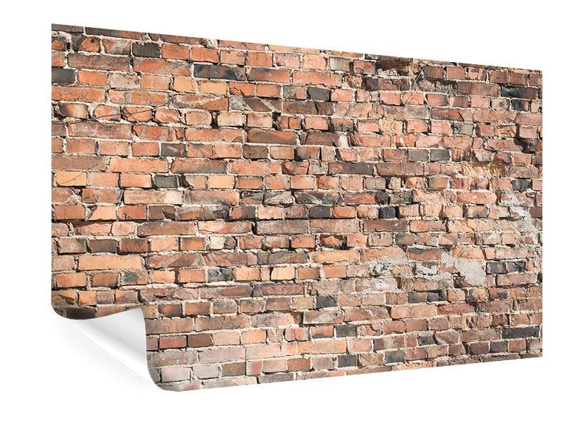 Poster Alte Backsteinmauer