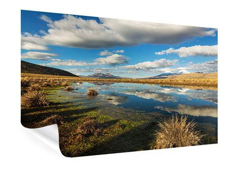 Poster Wasserspiegelung am See