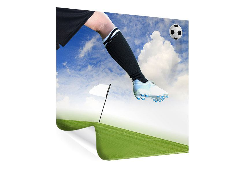 Poster Fussball-Kicker