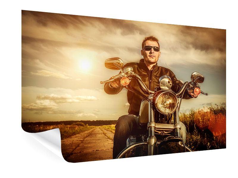 Poster Der Coole Biker