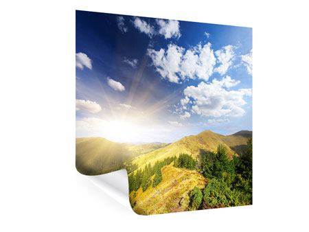 Poster Sonnenaufgang im Gebirge