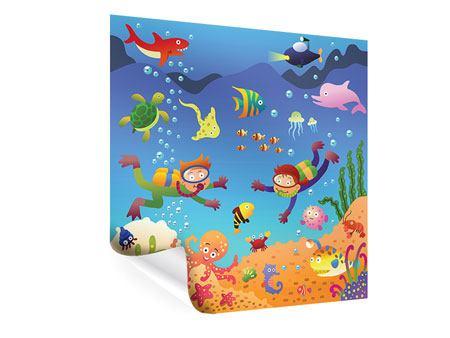 Poster Lustige Fische
