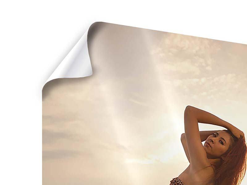 Poster Bikini Schönheit bei Sonnenuntergang