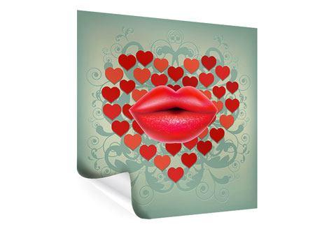 Poster Rote Lippen soll man küssen