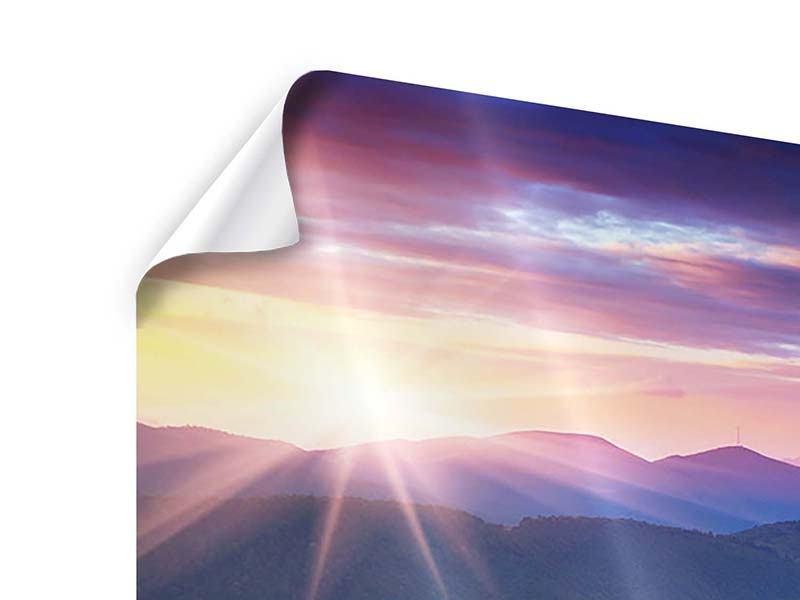 Poster Sonnenuntergang in der Bergwelt