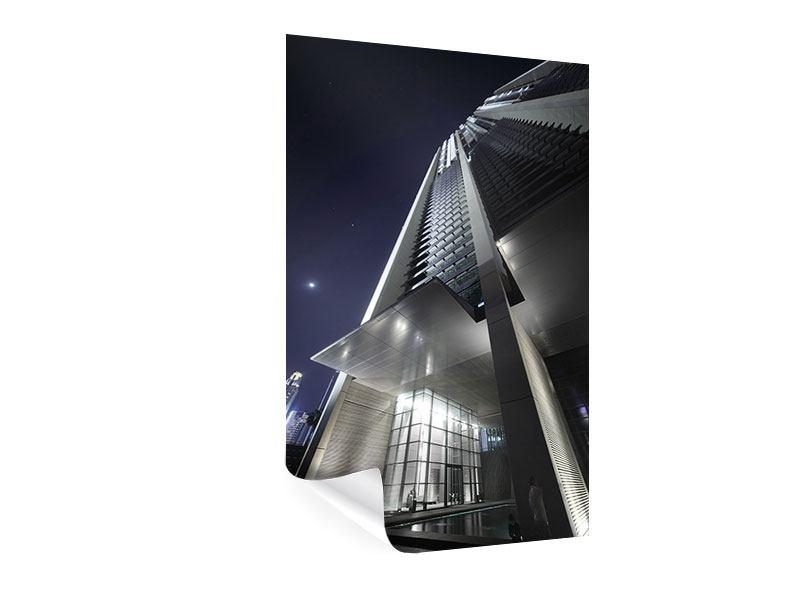 Poster Wolkenkratzer in Dubai