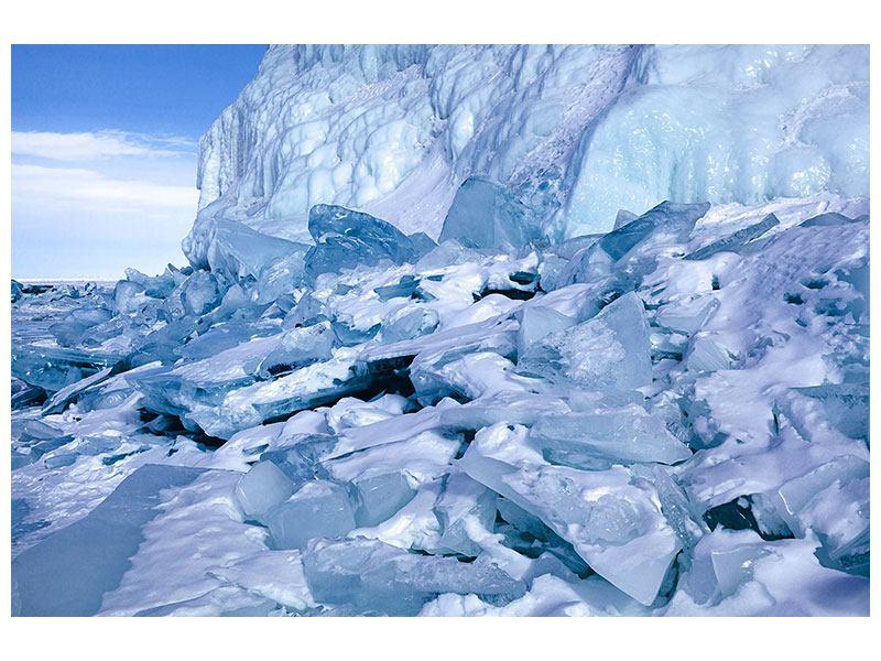 Poster Eislandschaft Baikalsee