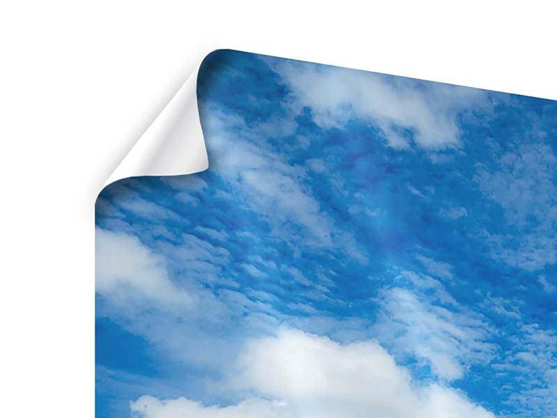 Poster Hoch über den Wolken