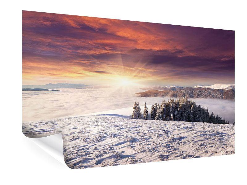 Poster Sonnenaufgang Winterlandschaft
