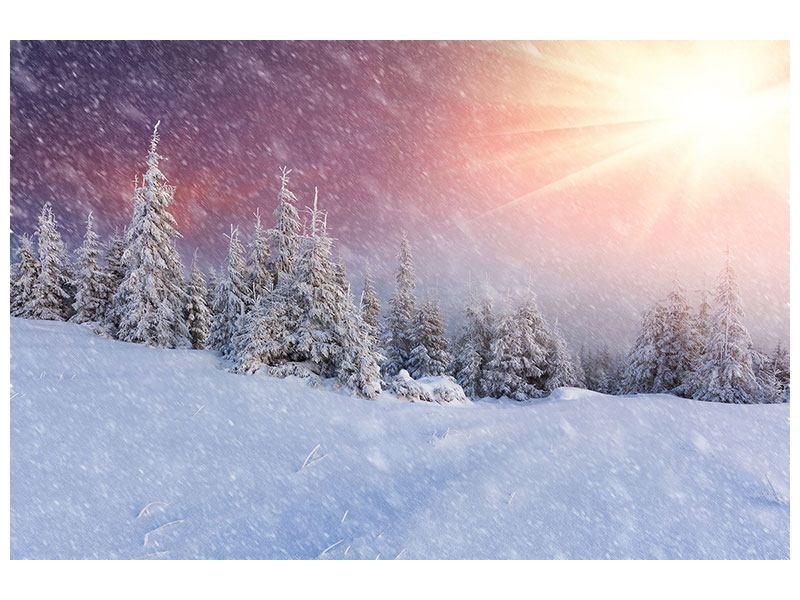 Poster Mystischer Schneesturm
