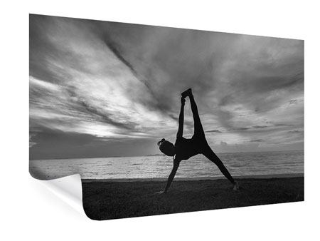 Poster Yoga am Strand