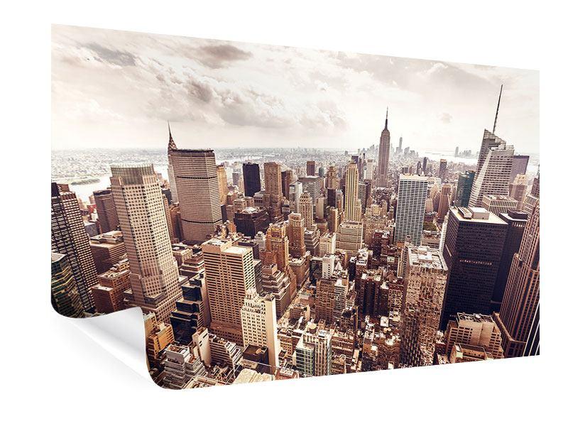Poster Skyline Über den Dächern Manhattans